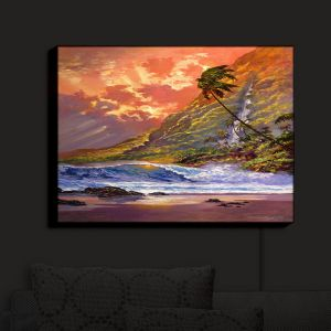 Nightlight Sconce Canvas Light | David Lloyd Glover - Dawn in Oahu