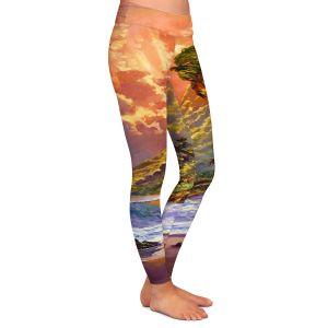 Casual Comfortable Leggings | David Lloyd Glover Dawn in Oahu