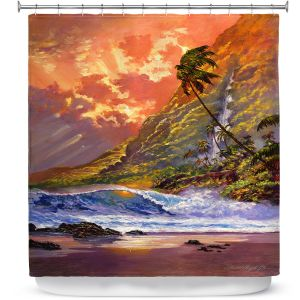 Unique Shower Curtain from DiaNoche Designs by David Lloyd Glover - Dawn in Oahu