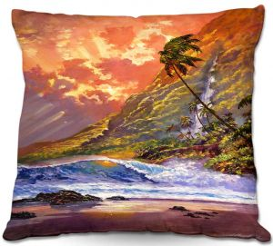 Decorative Outdoor Patio Pillow Cushion | David Lloyd Glover - Dawn in Oahu