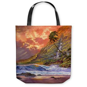 Unique Shoulder Bag Tote Bags | David Lloyd Glover Dawn in Oahu