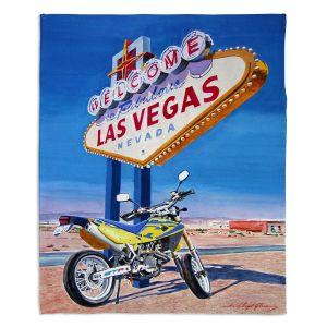 Decorative Fleece Throw Blankets   David Lloyd Glover - Easy Rider Las Vegas