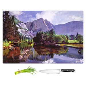 Artistic Kitchen Bar Cutting Boards | David Lloyd Glover - El Capitan Yosemite | landscape mountain nature