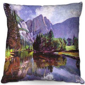 Throw Pillows Decorative Artistic   David Lloyd Glover - El Capitan Yosemite   landscape mountain nature