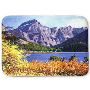 Decorative Bathroom Mats | David Lloyd Glover - Fall Colors | landscape mountain lake forest