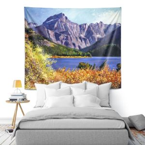 Artistic Wall Tapestry | David Lloyd Glover - Fall Colors | landscape mountain lake forest