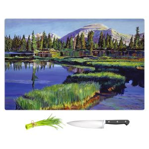 Artistic Kitchen Bar Cutting Boards | David Lloyd Glover - Fishermans Lake Reflections | landscape mountain nature