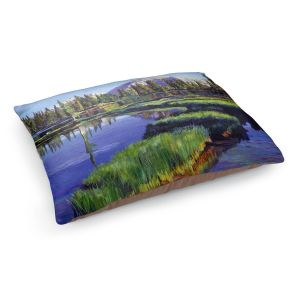 Decorative Dog Pet Beds | David Lloyd Glover - Fishermans Lake Reflections | landscape mountain nature