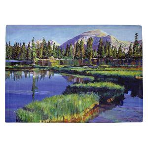Countertop Place Mats   David Lloyd Glover - Fishermans Lake Reflections   landscape mountain nature