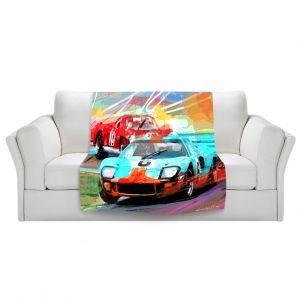 Artistic Sherpa Pile Blankets   David Lloyd Glover Ford GT40