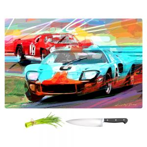 Artistic Kitchen Bar Cutting Boards | David Lloyd Glover - Ford GT40