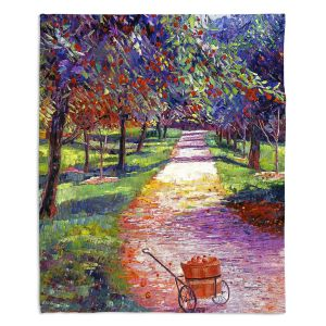 Decorative Fleece Throw Blankets | David Lloyd Glover - French Apple Orchards