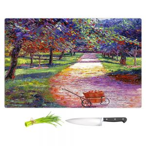 Artistic Kitchen Bar Cutting Boards | David Lloyd Glover - French Apple Orchards