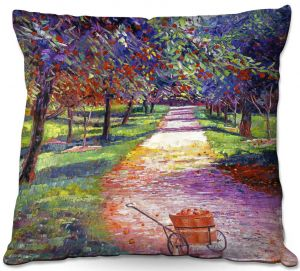 Throw Pillows Decorative Artistic | David Lloyd Glover - French Apple Orchards