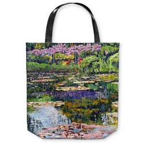 Unique Shoulder Bag Tote Bags   David Lloyd Glover Giverny Reflections