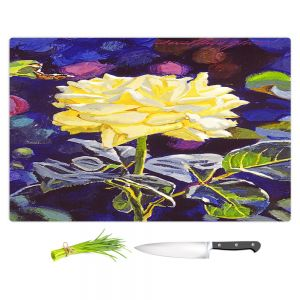 Artistic Kitchen Bar Cutting Boards | David Lloyd Glover - Golden Beauty | flower pattern still life close up