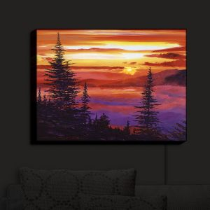 Nightlight Sconce Canvas Light   David Lloyd Glover - Golden Moment   landscape mountain nature