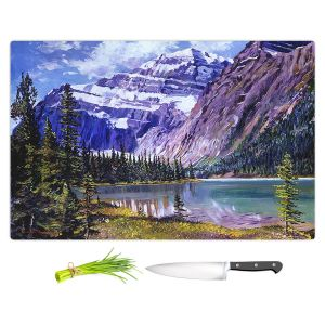 Artistic Kitchen Bar Cutting Boards | David Lloyd Glover - Grandeur of The Rockies | landscape mountain nature