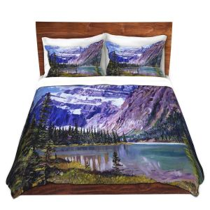 Artistic Duvet Covers and Shams Bedding | David Lloyd Glover - Grandeur of The Rockies | landscape mountain nature