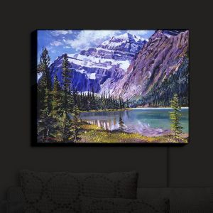 Nightlight Sconce Canvas Light | David Lloyd Glover - Grandeur of The Rockies | landscape mountain nature