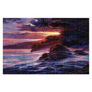 Decorative Floor Covering Mats | David Lloyd Glover - Hawaiian Sunset | island coast beach