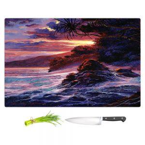 Artistic Kitchen Bar Cutting Boards | David Lloyd Glover - Hawaiian Sunset | island coast beach