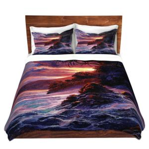 Artistic Duvet Covers and Shams Bedding   David Lloyd Glover - Hawaiian Sunset   island coast beach