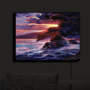 Nightlight Sconce Canvas Light | David Lloyd Glover - Hawaiian Sunset | island coast beach