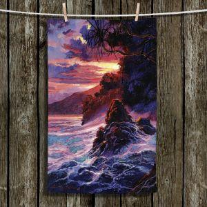 Unique Bathroom Towels | David Lloyd Glover - Hawaiian Sunset | island coast beach
