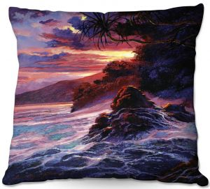 Throw Pillows Decorative Artistic | David Lloyd Glover - Hawaiian Sunset | island coast beach