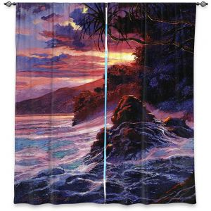 Decorative Window Treatments | David Lloyd Glover - Hawaiian Sunset | island coast beach