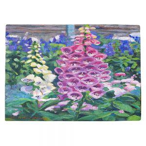 Countertop Place Mats | David Lloyd Glover - Hollyhocks | nature flower garden