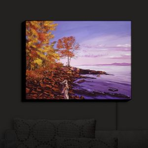 Nightlight Sconce Canvas Light | David Lloyd Glover - Lake Shore Evening