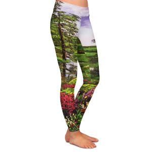 Casual Comfortable Leggings | David Lloyd Glover - Lakeside Garden | pond lake landscape nature spring