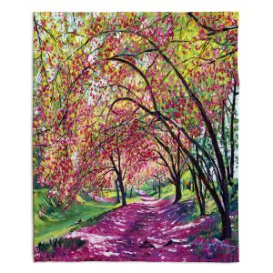 Decorative Fleece Throw Blankets | David Lloyd Glover - Lazy Afternoon Central Park