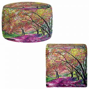 Round and Square Ottoman Foot Stools   David Lloyd Glover - Lazy Afternoon Central Park