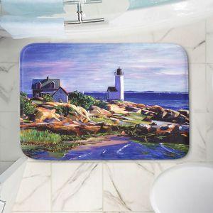 Decorative Bathroom Mats | David Lloyd Glover - Maine Lighthouse | coast ocean shore house