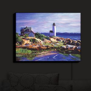 Nightlight Sconce Canvas Light | David Lloyd Glover - Maine Lighthouse