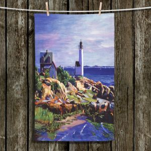 Unique Bathroom Towels | David Lloyd Glover - Maine Lighthouse | coast ocean shore house