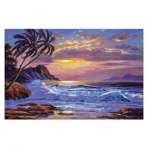 Decorative Floor Covering Mats | David Lloyd Glover - Maui Sunset | beach island sunset coast