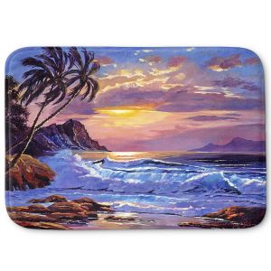 Decorative Bathroom Mats | David Lloyd Glover - Maui Sunset | beach island sunset coast