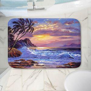 Decorative Bathroom Mats | David Lloyd Glover - Maui Sunset | beach island sunset coast