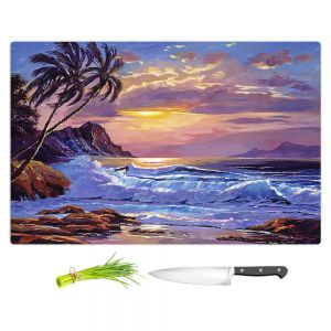 Artistic Kitchen Bar Cutting Boards | David Lloyd Glover - Maui Sunset | beach island sunset coast