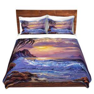 Artistic Duvet Covers and Shams Bedding   David Lloyd Glover - Maui Sunset   beach island sunset coast