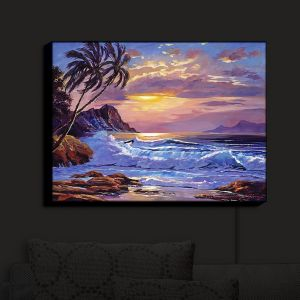 Nightlight Sconce Canvas Light | David Lloyd Glover - Maui Sunset | beach island sunset coast