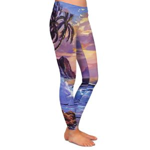 Casual Comfortable Leggings | David Lloyd Glover - Maui Sunset | beach island sunset coast