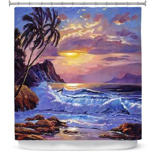 Premium Shower Curtains | David Lloyd Glover - Maui Sunset | beach island sunset coast