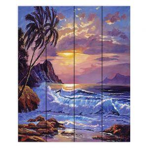 Decorative Wood Plank Wall Art   David Lloyd Glover - Maui Sunset   beach island sunset coast