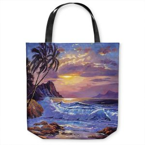 Unique Shoulder Bag Tote Bags | David Lloyd Glover - Maui Sunset | beach island sunset coast