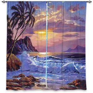 Decorative Window Treatments | David Lloyd Glover - Maui Sunset | beach island sunset coast